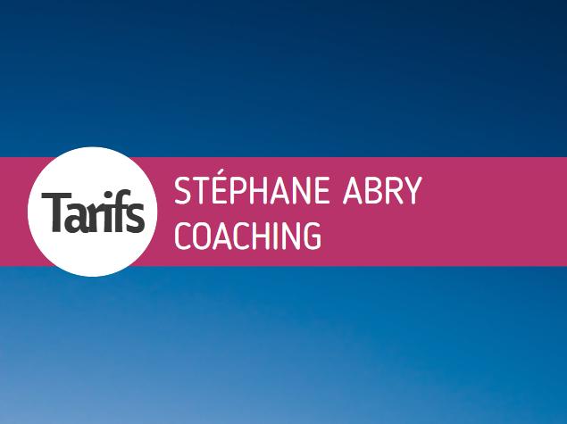 Tarifs Stéphane Abry Coaching